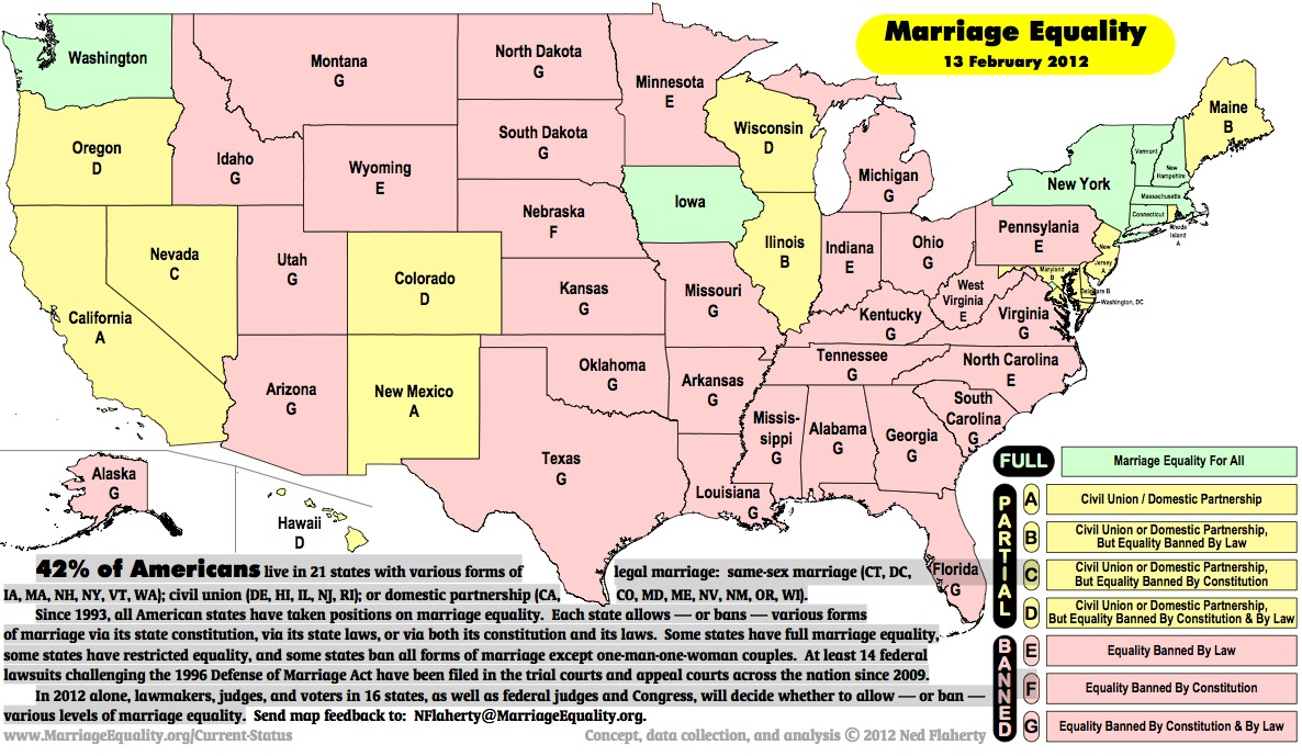 Meusa Releases New Marriage Equality Map The Brandt Standard