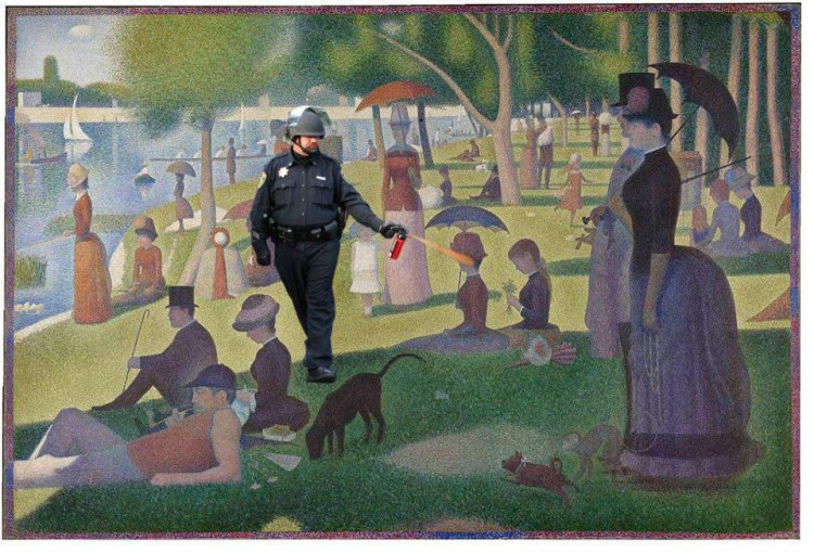 pepper spray in the park