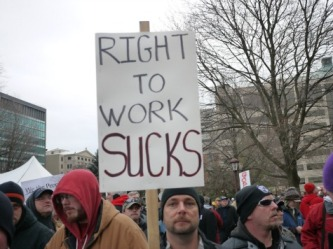 Amid Protests From Unions, Michigan Becomes A Right To Work State